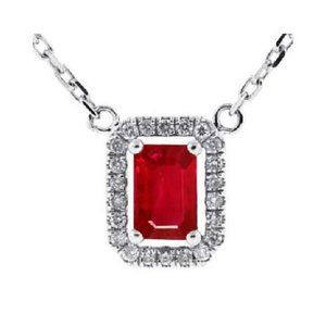Diamonds 5.50 Ct. Emerald Cut Ruby With Round Cut
